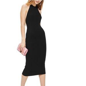 Topshop Rib Knit Halter Midi Dress SZ 10